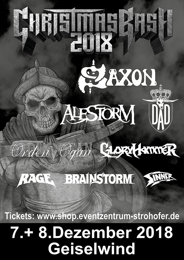 Line Up_Christmas Bash 2018_Eventzentrum Strohofer Geiselwind